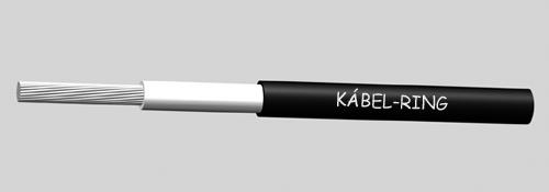 H1Z2Z2-K 1x6 Fekete 500m - Kábel szolár rendszerekhez.