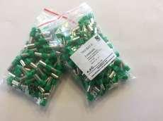 Szigetelt érvéghüvely 16,0mm2, hossz 12 Zöld