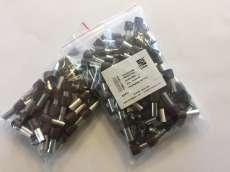 Szigetelt érvéghüvely 25,0mm2, hossz 16 barna